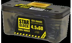 Vis bois et agglomérés - 4,5x60 - TX - etui ceinture de 100 STARBLOCK
